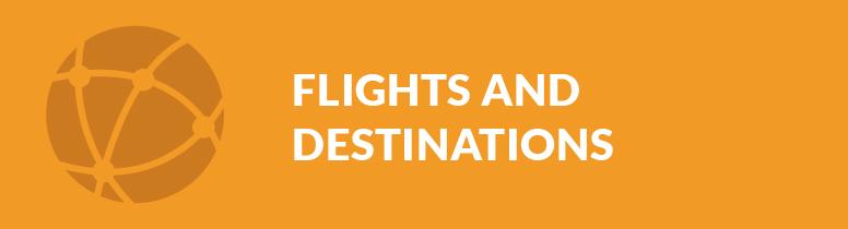 Flights and destinations